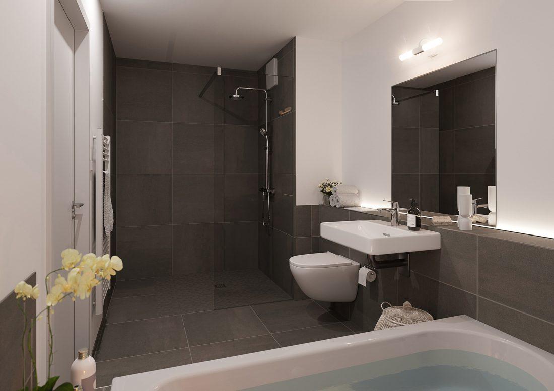 VILIS Am Quellenbusch Innenraumvisualisierungen Badezimmer