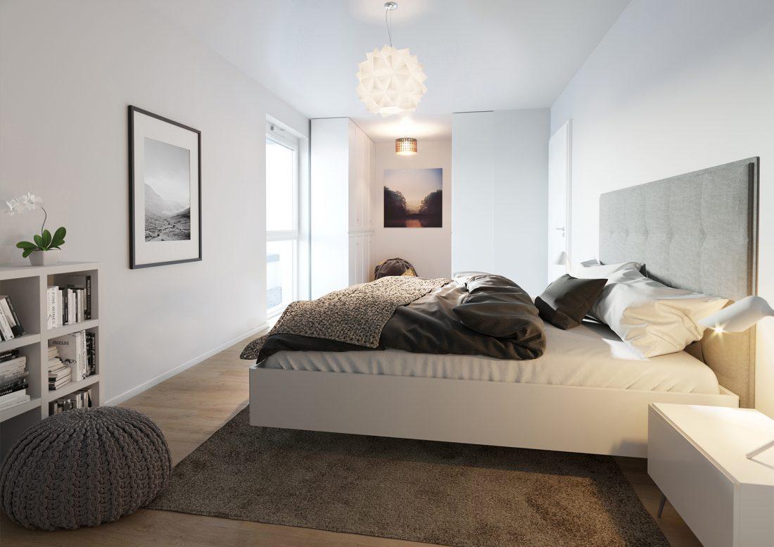VILIS Am Quellenbusch Innenraumvisualisierungen Schlafzimmer